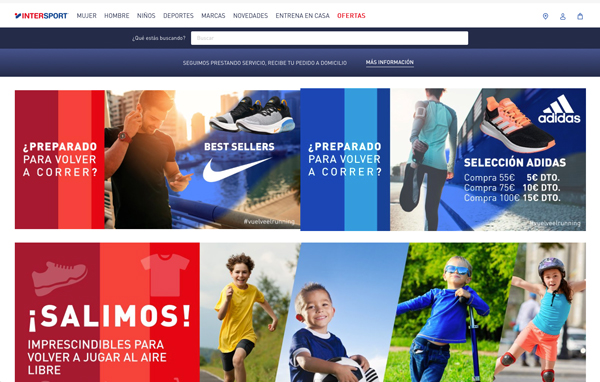 Intersport España dispara sus ventas online un 500%