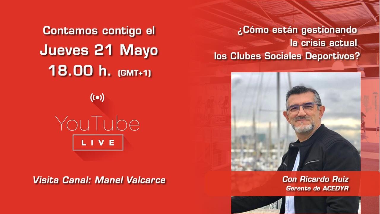 Manel Valcarce organiza el webinar 'Cómo afecta la situación actual a los Clubes Sociales Deportivos'