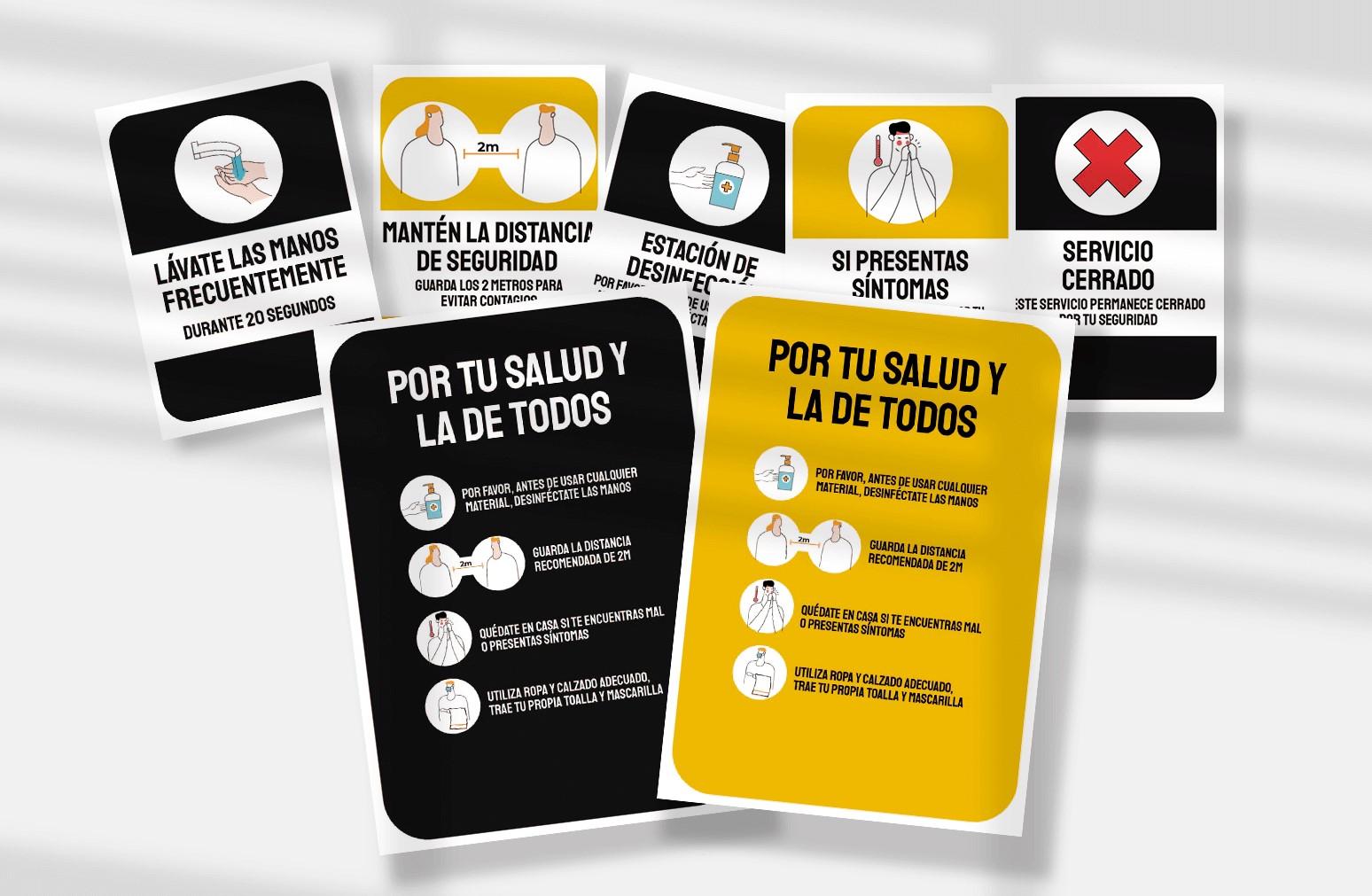MPG ofrece carteles de señales de prevención de contagio para gimnasios de forma gratuita