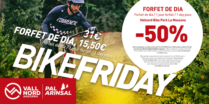 Vallnord-Pal Arinsal vuelve a convocar el Bike Friday