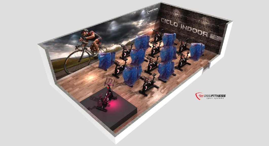Oss Fitness lanza un protector para la sala de ciclismo indoor