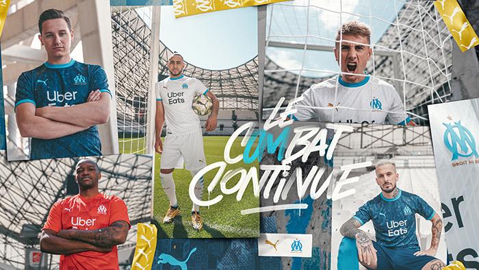 Puma presenta la primera y segunda equipación del Olympique de Marseille