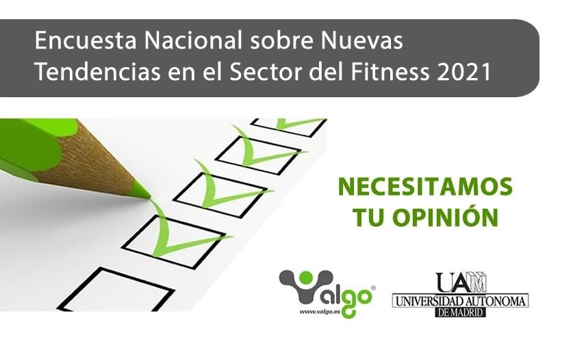 Arranca la Encuesta Nacional sobre Nuevas Tendencias en el Sector del Fitness 2021
