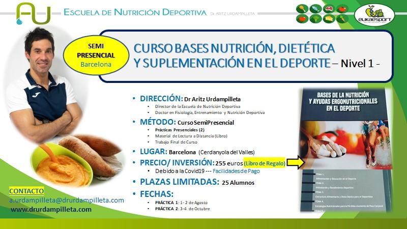 Nuevo curso sobre 'Bases de nutrición, dietética y suplementación en el deporte'
