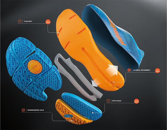 Bullpadel presenta una suela híbrida para zapatillas de pádel