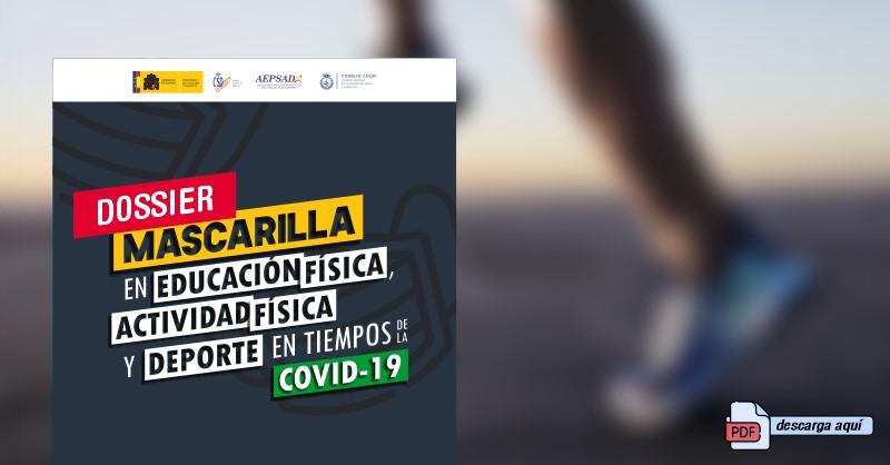 Consejo COLEF ofrece el informe 'Mascarilla en educación y actividad física y deporte'