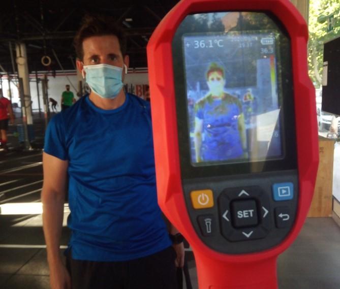 B+SAFE equipa con cámaras termográficas a CrossFit Singular Box Granada