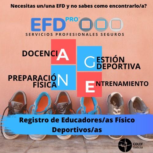 COLEF Galicia crea un registro público de educadores físicos titulados