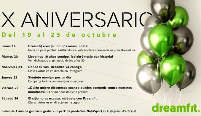 Dreamfit celebra su 10º aniversario
