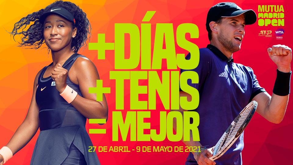El Mutua Madrid Open será un torneo de dos semanas en 2021