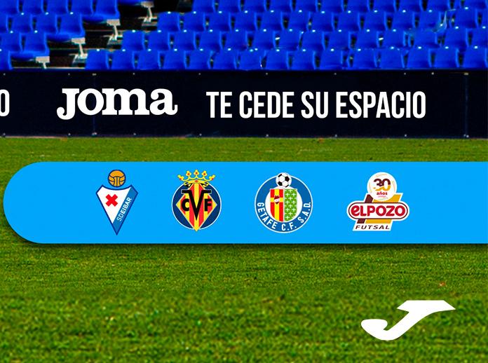 Joma enviará mensajes de los aficionados a los equipos de fútbol que patrocina