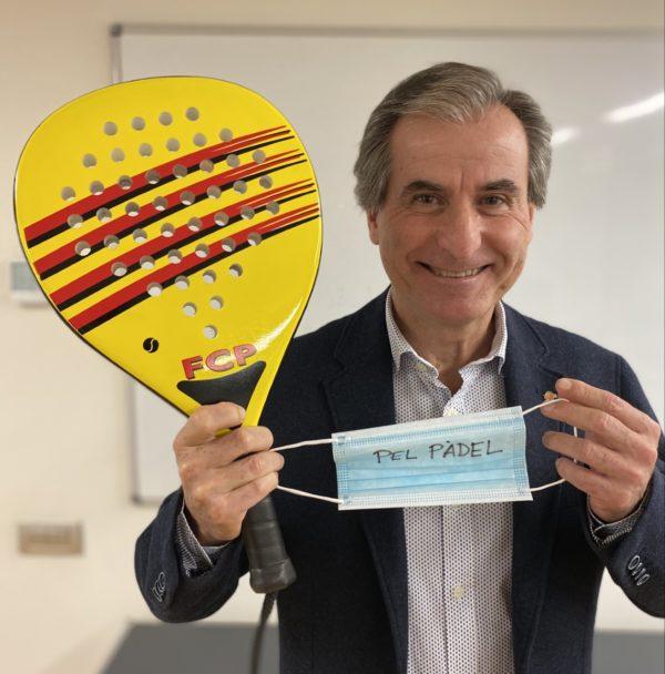 La Federación Catalana de Pádel aporta 6.000 euros a la Marató de TV3