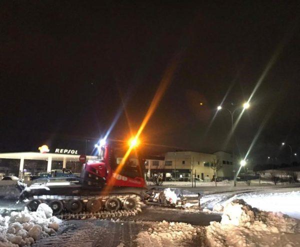 Madrid SnowZone ayuda en la limpieza de la nieve en Arroyomolinos