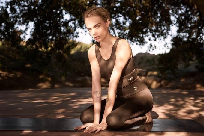 Puma lanza una colección ecológica de yoga junto a la actriz Cara Delevingne