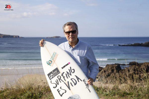 Carlos García reelegido como presidente de la Federación Española de Surfing