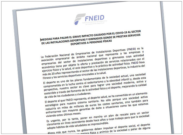 La Fneid propone ocho medidas a las administraciones para rescatar al fitness