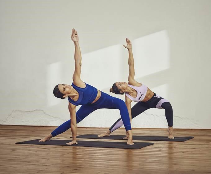 Cristina Pedroche y Carolina Patrocinio muestran las nuevas prendas de Yoga de Puma