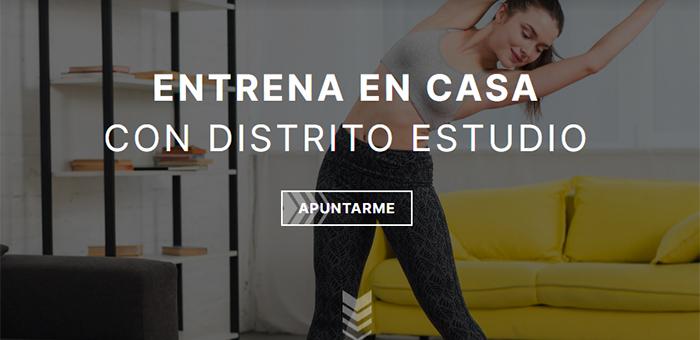 Distrito Estudio retiene al 80% de sus clientes confinados a través del gimnasio online