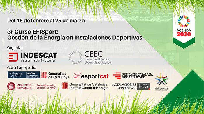 Indescat convoca su curso de gestión de la energía en instalaciones deportivas