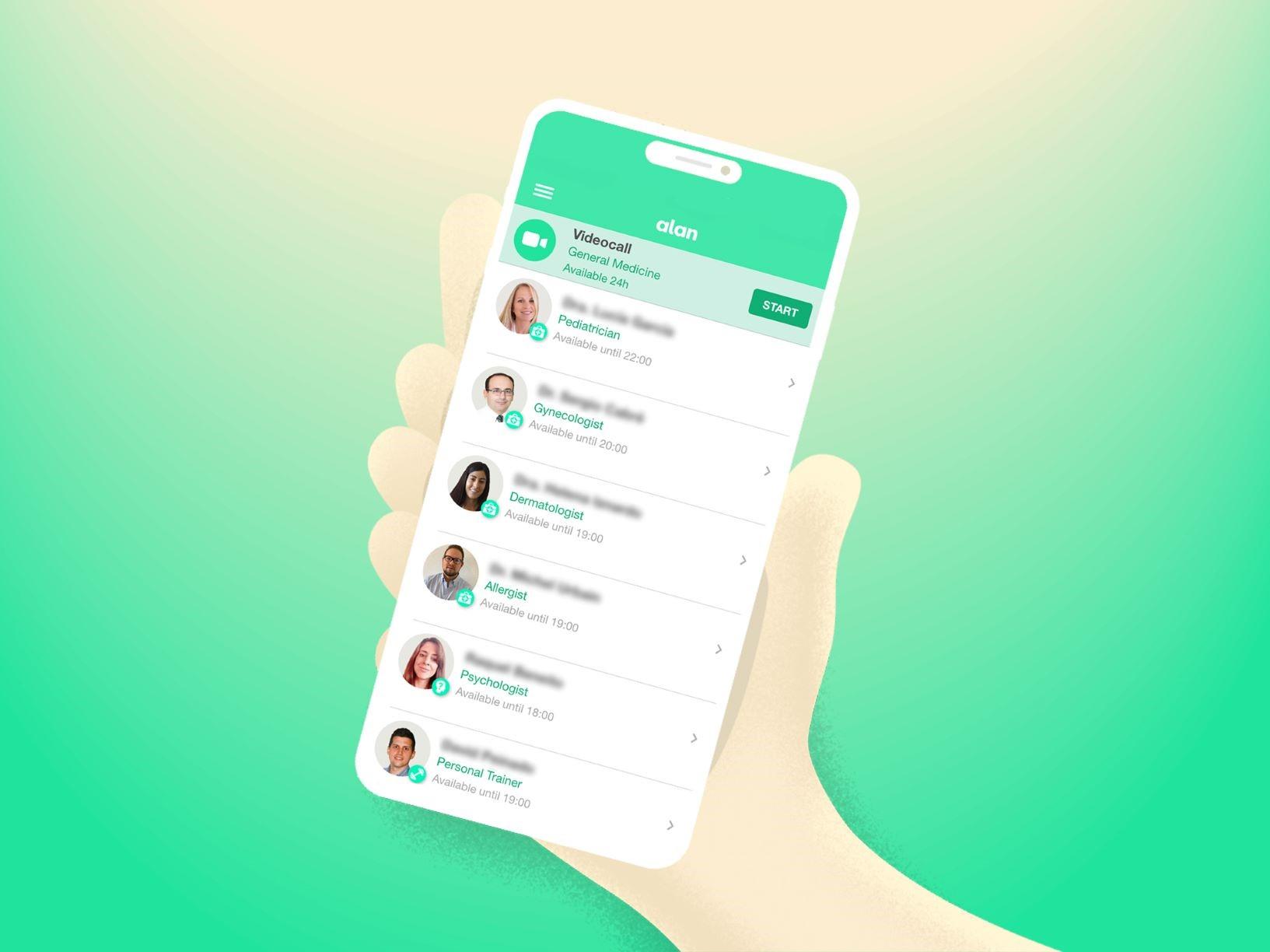 La app de salud Alan incluye a entrenadores personales entre sus especialistas