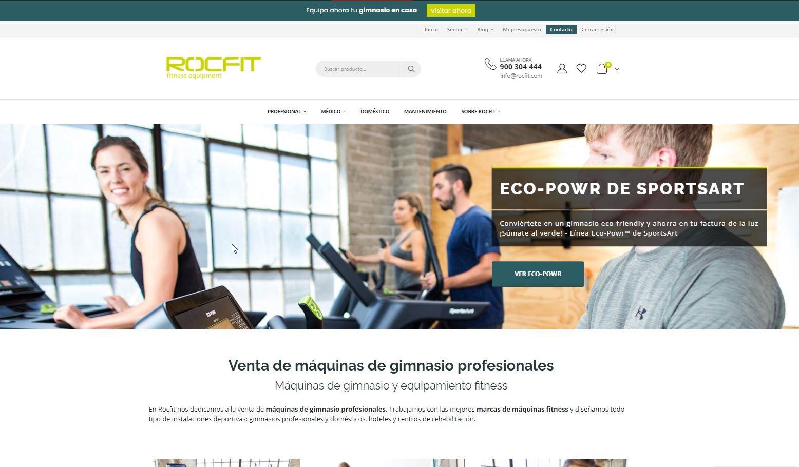Rocfit renueva su web para mejorar la experiencia del usuario