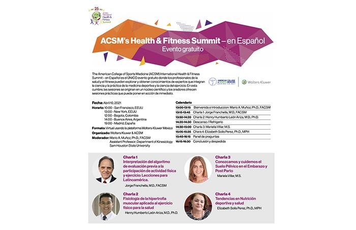 ACSM dedicará una sesión al mercado hispano en el Health & Fitness Summit 2021