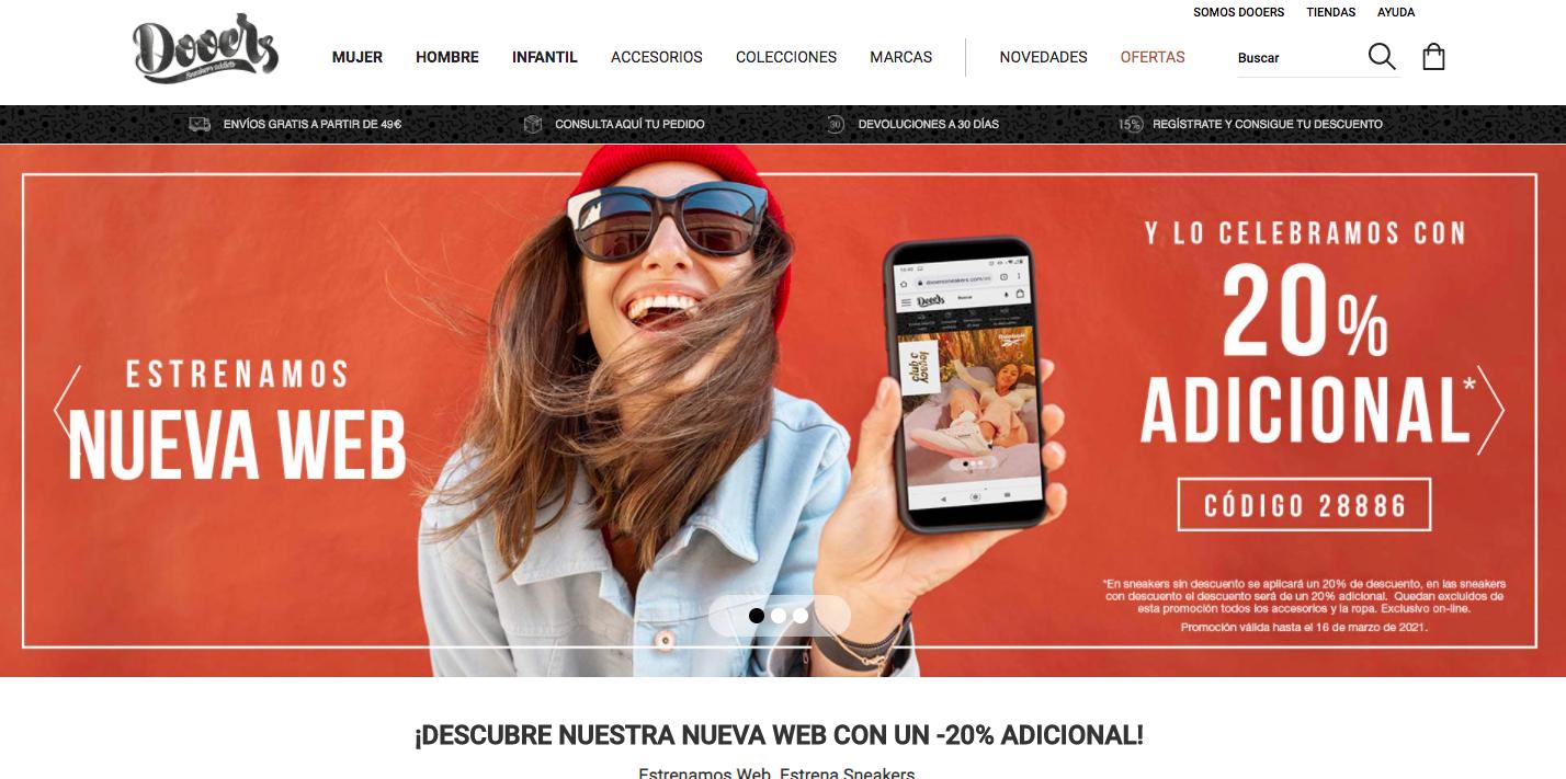 Dooers Sneakers renueva su web para optimizar la experiencia de compra