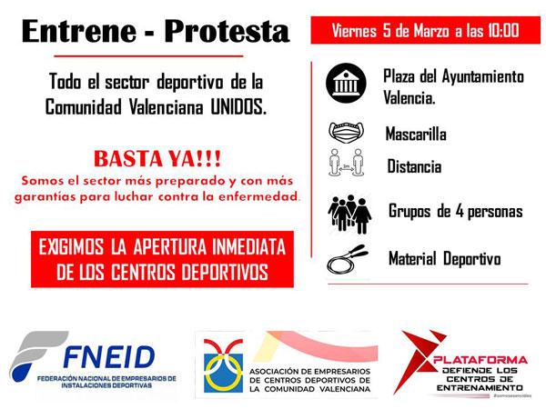 El deporte valenciano se movilizará por la apertura inmediata de instalaciones