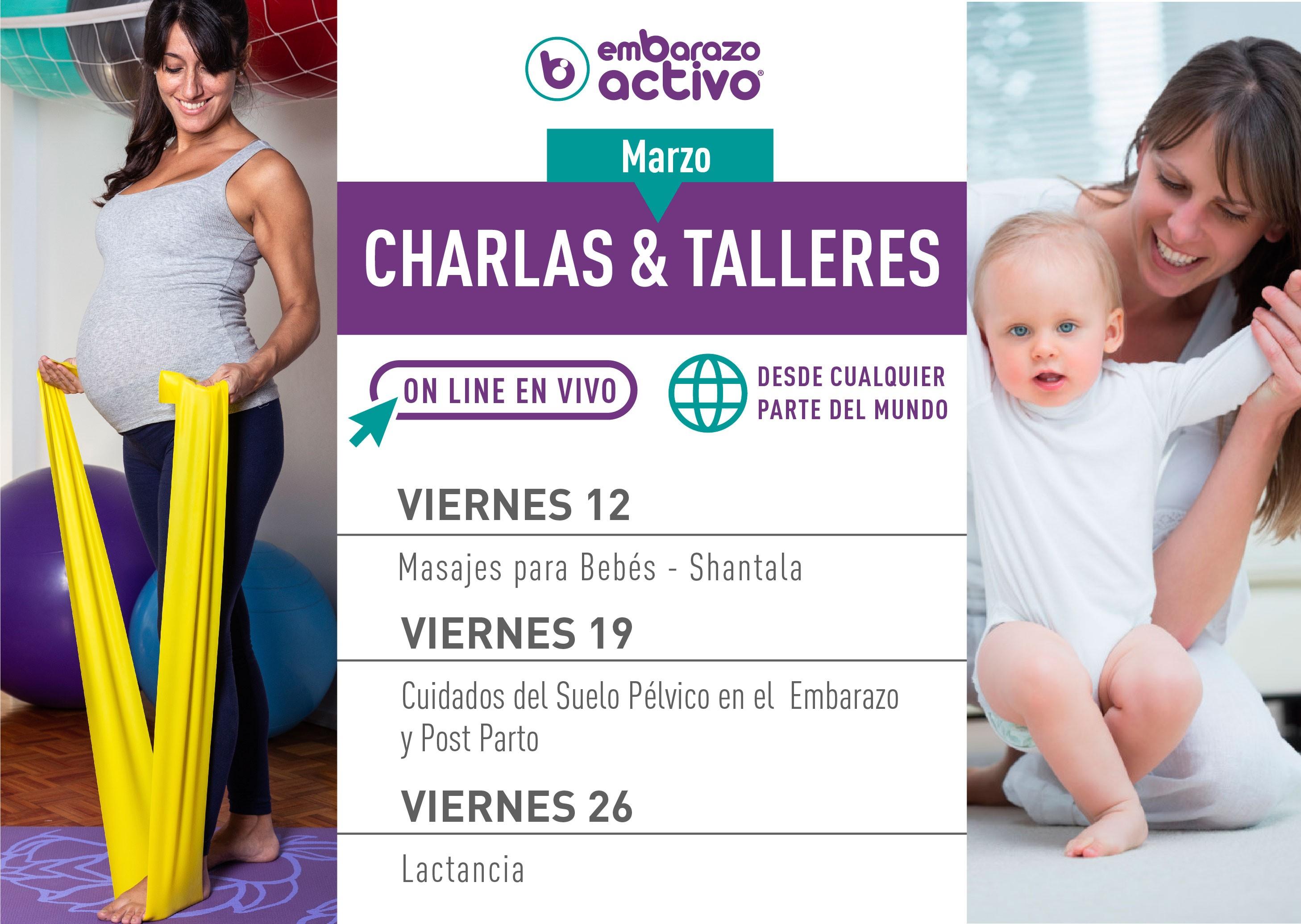 Embarazo Activo organiza varias charlas, directos y formaciones profesionales