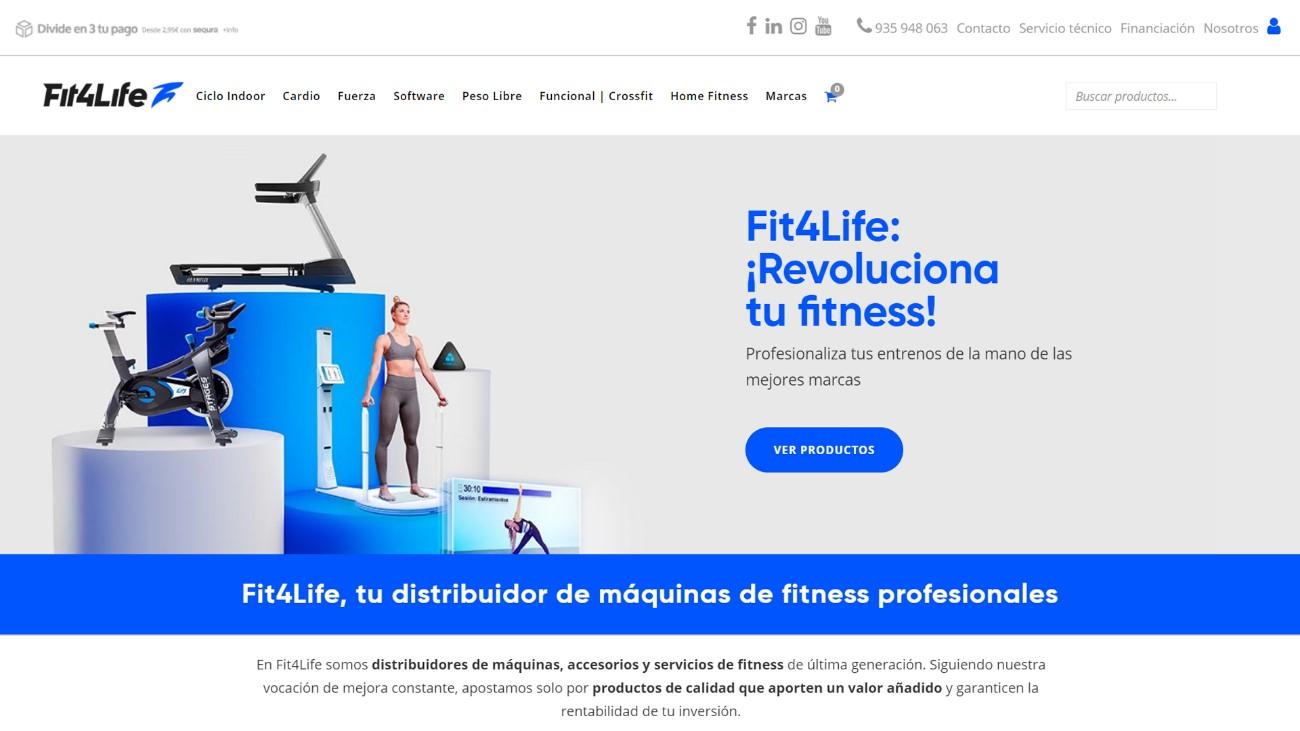 Fit4Life renueva su imagen y lanza una nueva web