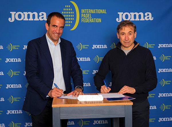 Joma sella su apuesta por el pádel internacional como nuevo sponsor de la FIP