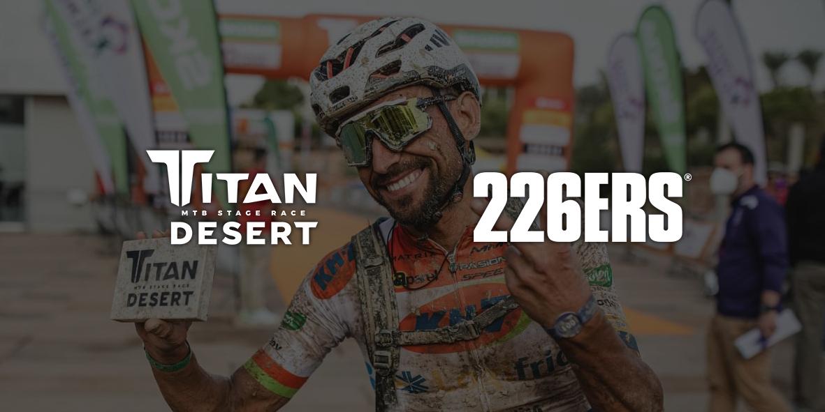 226ers será patrocinador oficial de la Titan Desert las dos próximas ediciones