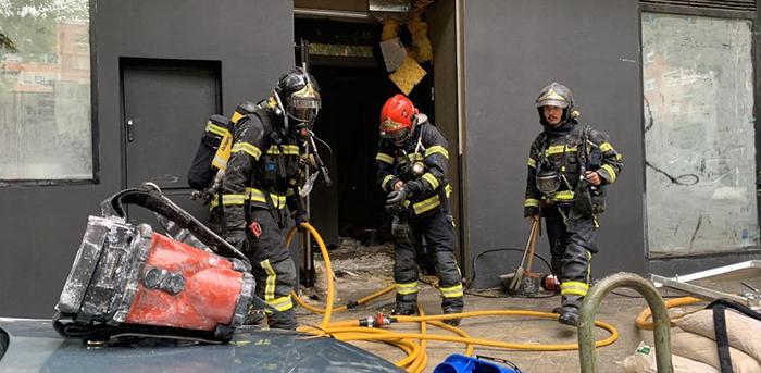 Un incendio retrasa el debut de Distrito Estudio en Madrid