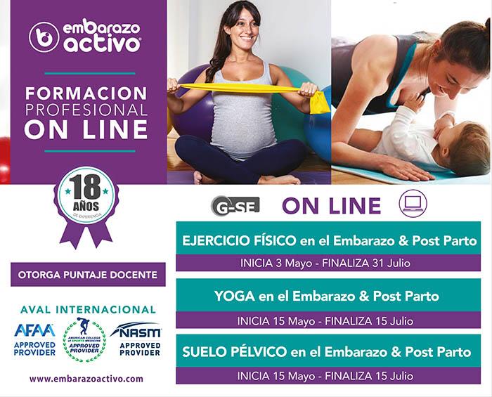 Embarazo Activo presenta su segundo ciclo de formaciones online 2021
