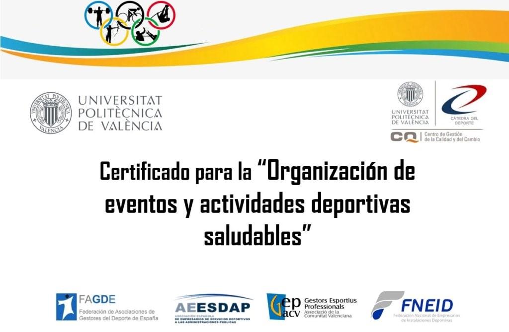 La UPV promueve un nuevo certificado para eventos y actividades deportivas seguras