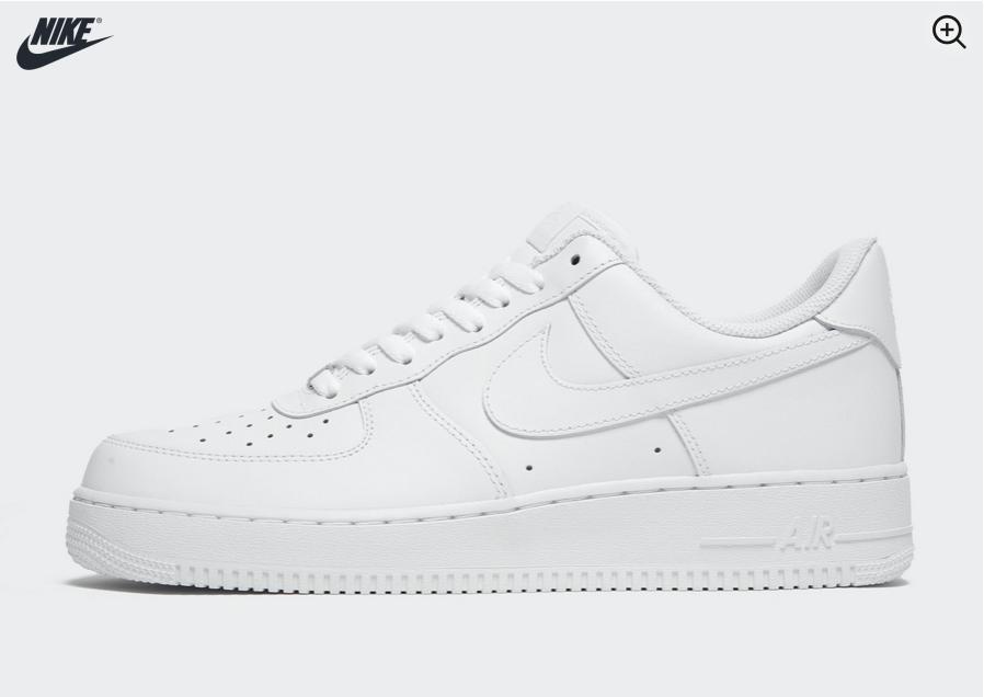 Las Nike Air Force 1, las zapatillas más vendidas en las tiendas de JD Sports