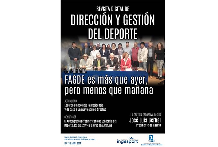 El adiós de Eduardo Blanco protagoniza el nuevo número de la revista de Fagde