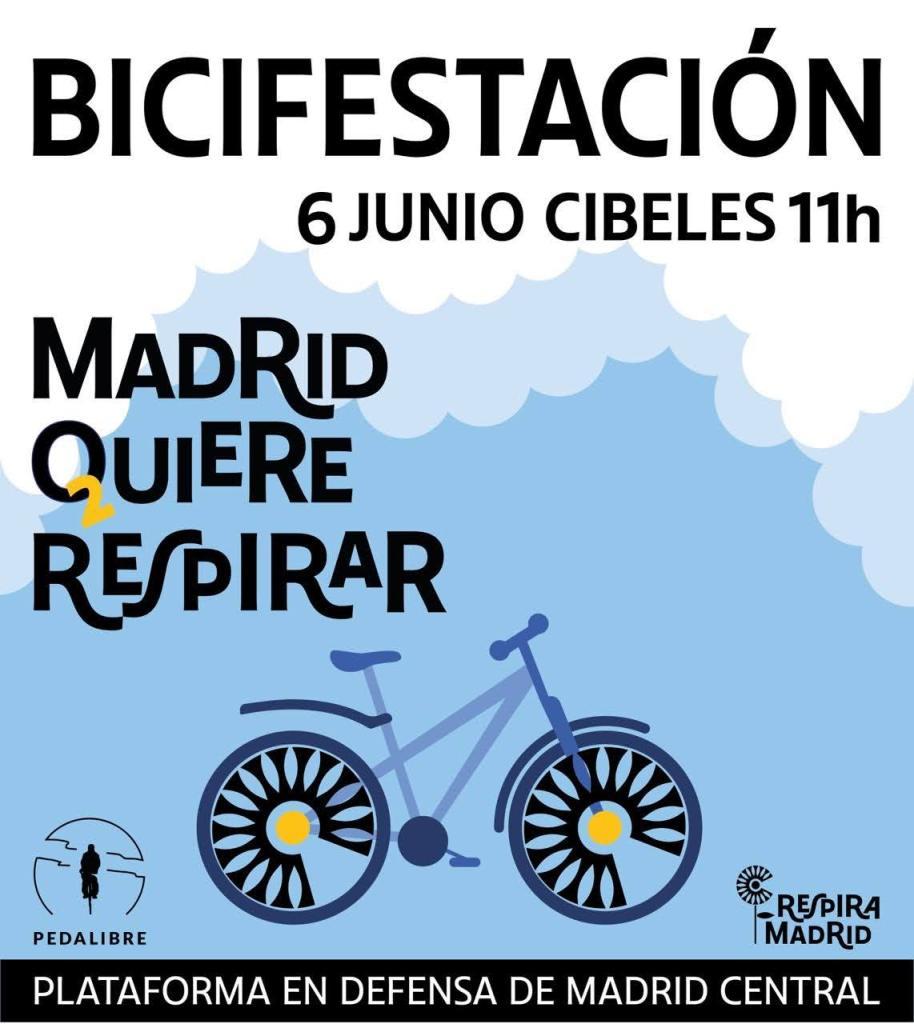 Pedalibre llama a manifestarse contra la decisión de tumbar Madrid Central