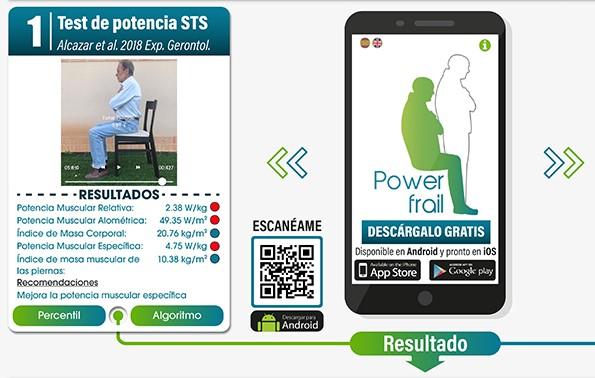 Diseñan PowerFrail la app gratuita que mide la potencia muscular de los mayores