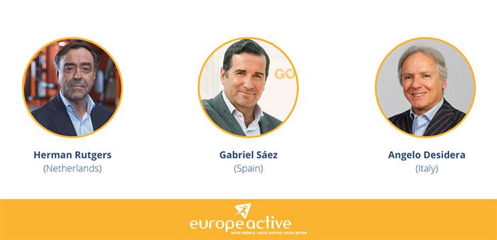 Angelo Desidera, Herman Rutgers y Gabriel Sáez, nuevos embajadores de EuropeActive