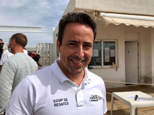 Jordi Aránega destaca la buena respuesta del nuevo patín a vela de BarCu