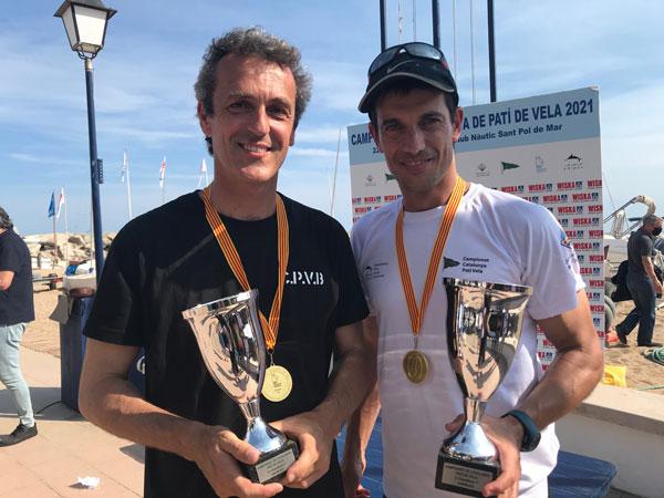 Pere Crespo y Oriol Martí campeones de Cataluña 2021 de patín a vela