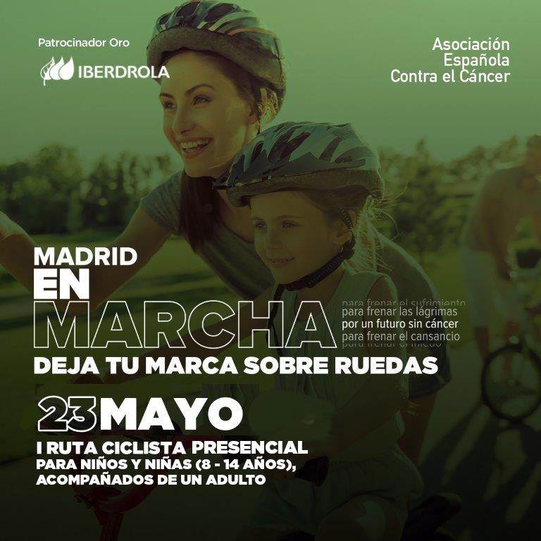 Madrid acoge la primera ruta ciclista infantil contra el cáncer