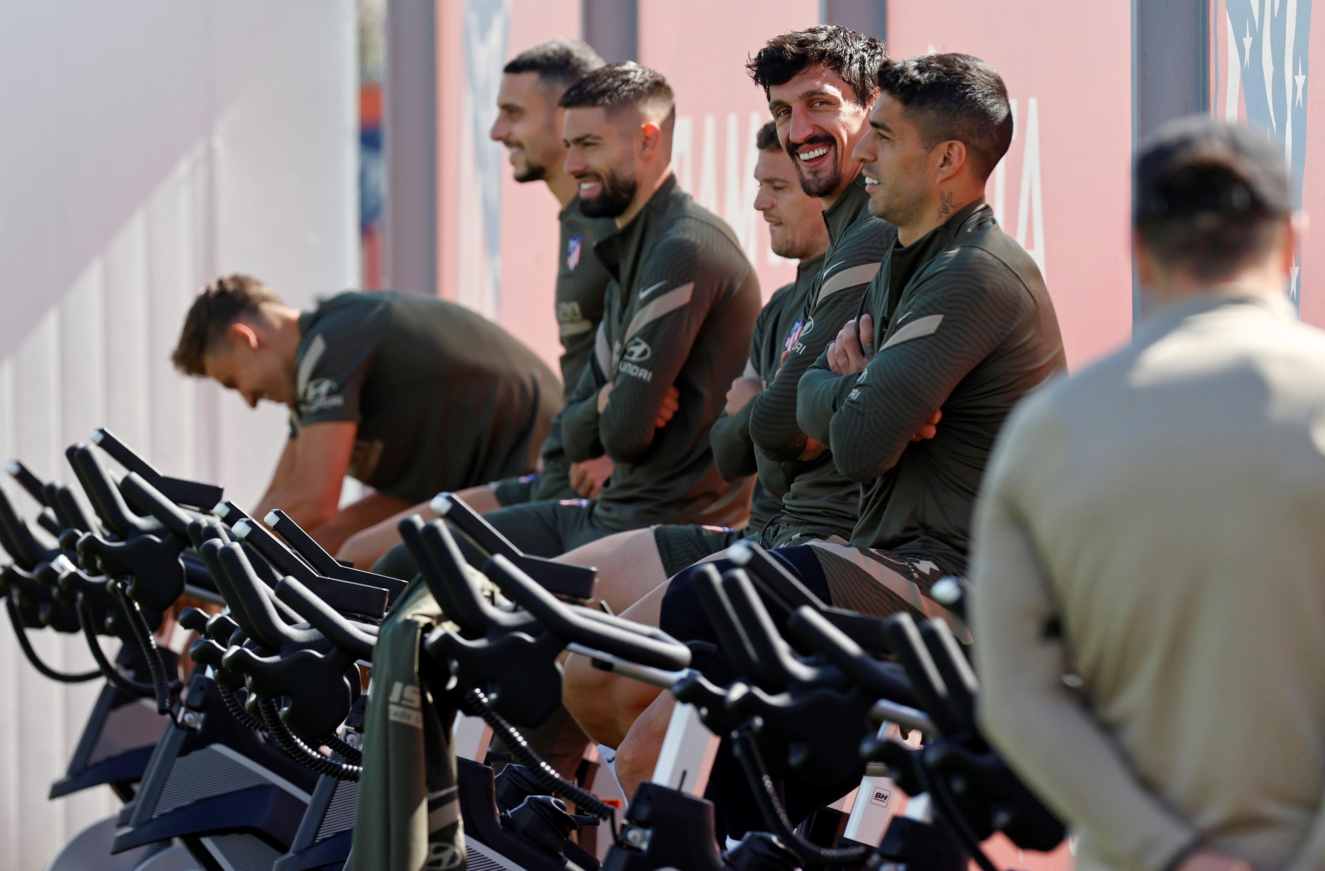 El Atlético de Madrid prepara el final de la Liga con el equipamiento de BH Fitness