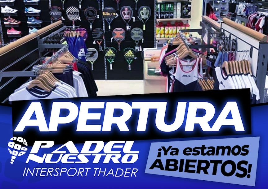 Padel Nuestro inaugura su tercer 'shop in shop' en una tienda Intersport