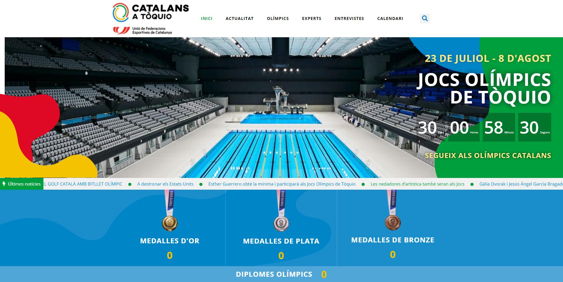 La UFEC lanza una web para seguir a los deportistas catalanes en Tokio