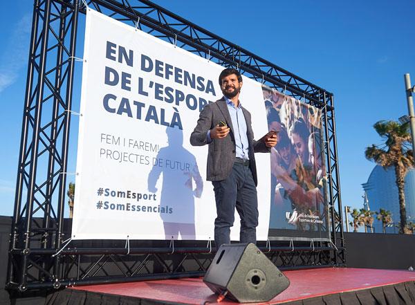 """Gerard Esteva aspira a convertir Cataluña en """"la primera potencia deportiva del mundo"""""""
