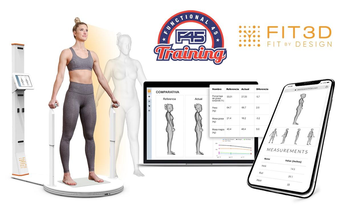 La franquicia F45 Training motiva a sus socios con el escáner Fit3D