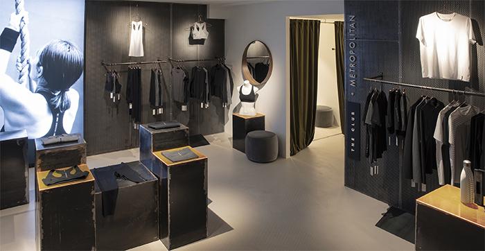 Metropolitan introduce su marca de moda deportiva The Club en el edifico Lamarca