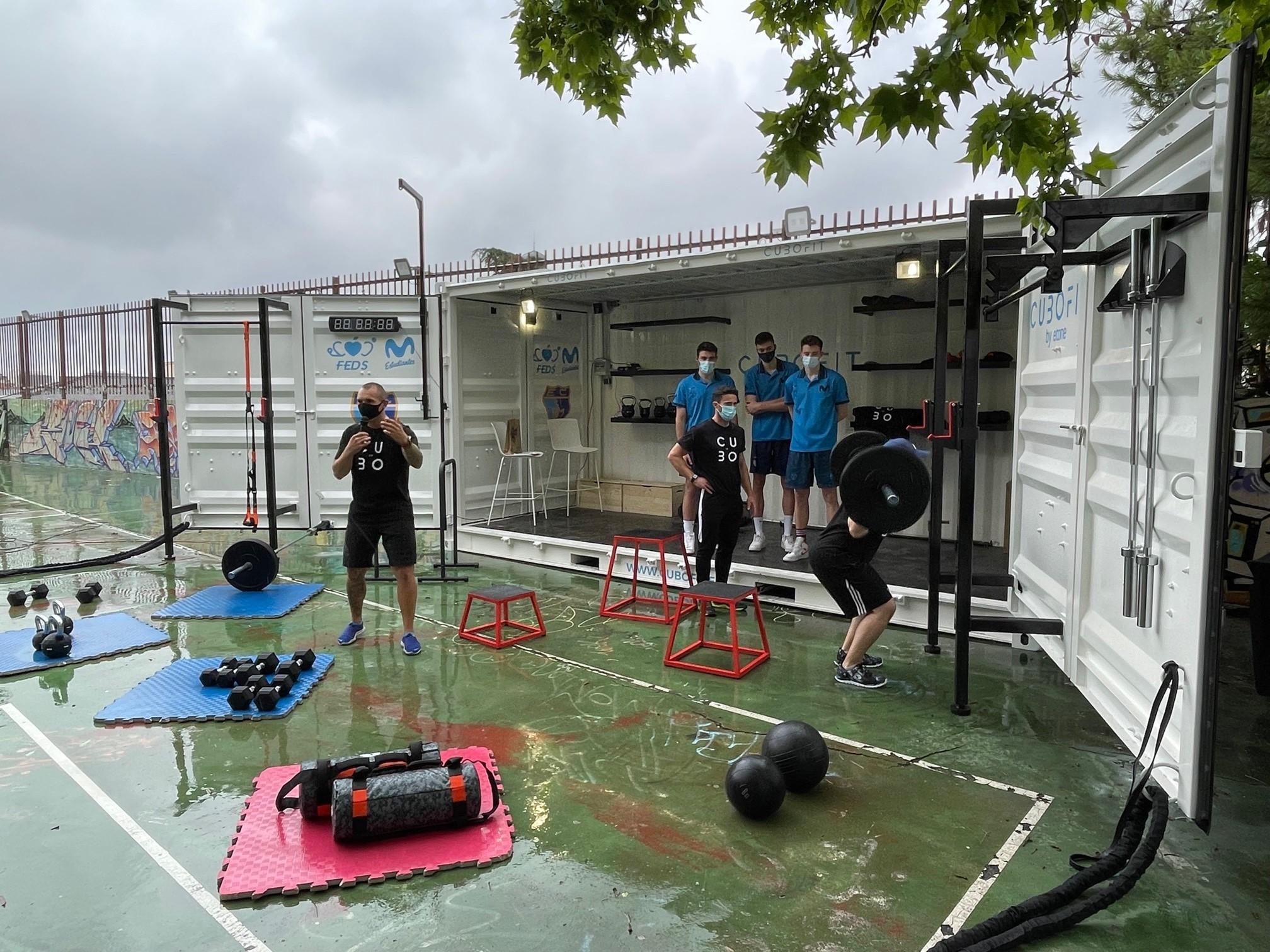 Cubofit provee al Movistar Estudiantes con uno de sus gimnasios modulares